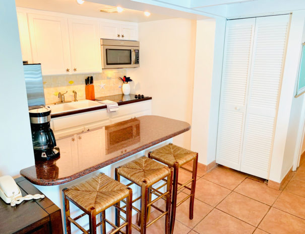 Eat-In Kitchen with Stove, Fridge, & Microwave/Convection Oven