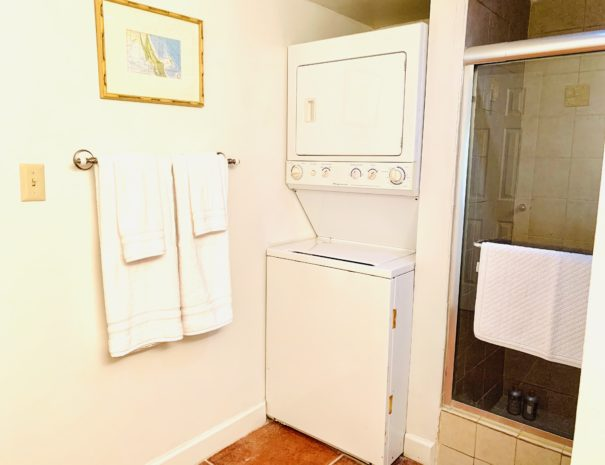 Master Bath includes a full washer and dryer for your convenience